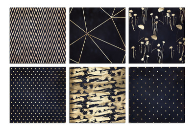 Christmas Gold & Navy Blue Textures