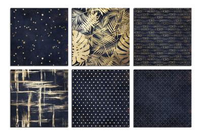 Gold & Navy Blue Textures