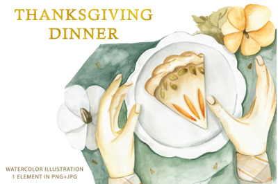 Watercolor illustration to Thanksgiving Day