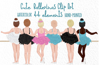 Ballet Dancers clipart, Cute Ballerinas, Best friend clipart