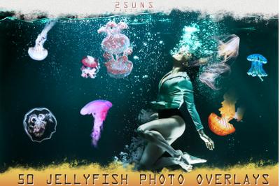 50 Jellyfish Overlays, download photo overlays