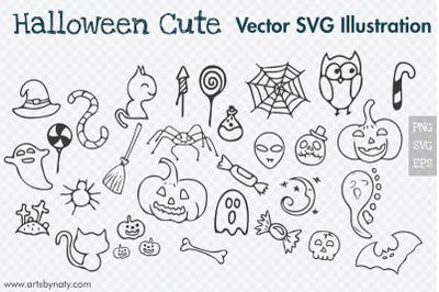 Halloween SVG Vector Illustrations