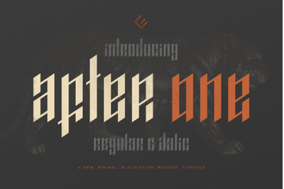 After One - Blackletter Inspired Font