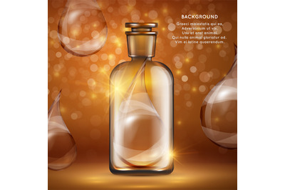 Download Dark Amber Cosmetic Bottle Mockup Yellowimages