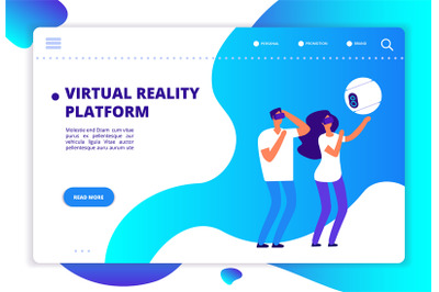 Virtual augmented reality. People with mobile entertainment and headse