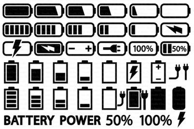 Battery SVG Bundle, Battery SVG, Battery Clipart,   Charging.