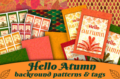 Autumn Patterns and Tags