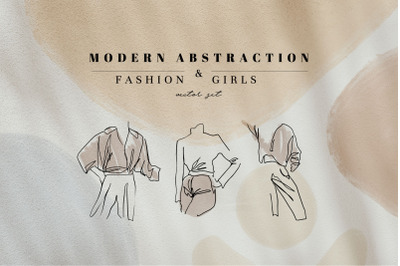 Modern Abstract Fashion Girls