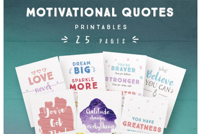 Motivational Quotes Printables (25 pages)
