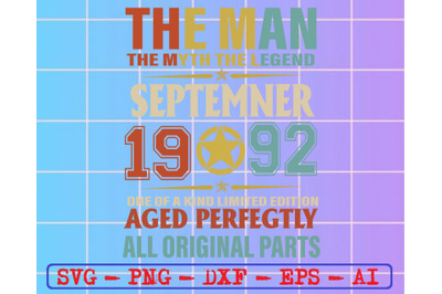 The man the myth the legend september 1992...svg, dxf,eps,png, Digital