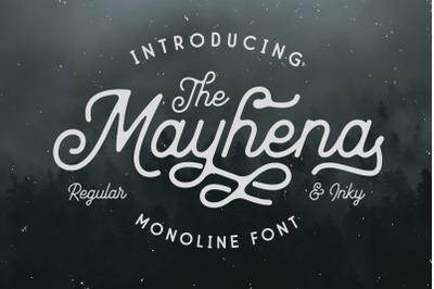 Mayhena Monoline Font