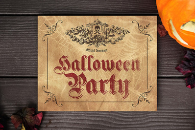 Halloween Party - Printable Party Poster