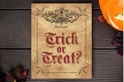 Trick or Treat - Halloween Printable