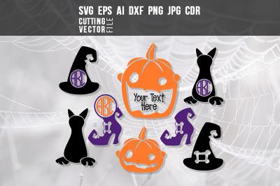 Halloween Monograms - Svg
