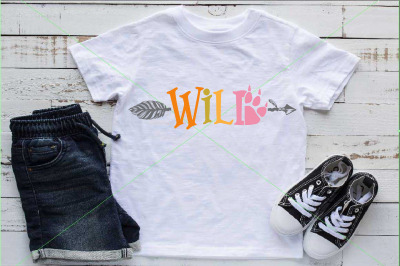 Wild SVG Paw Arrow Stay wild baby onesie 1528s