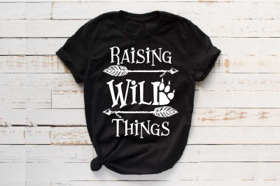 Raising Wild Things SVG Paw Arrow Stay baby onesie 1530s