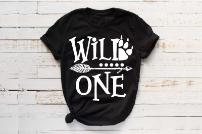 Wild One Birthday SVG Bear Paw Arrow Stay baby onesie 1531s