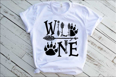 Wild One Birthday SVG Bear Paw Arrow Stay baby onesie 1532s
