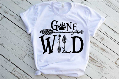 Gone Wild SVG Bear Paw Arrow Stay One Birthday baby onesie 1533s