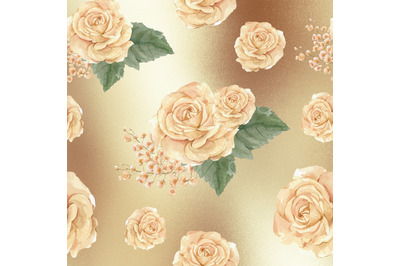 Watercolor Rose Gold Textures