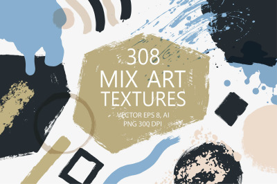 Mix Art Textures and Backgrounds