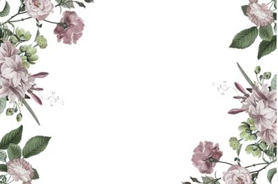 PNG Watercolor Flowers Digital Paper