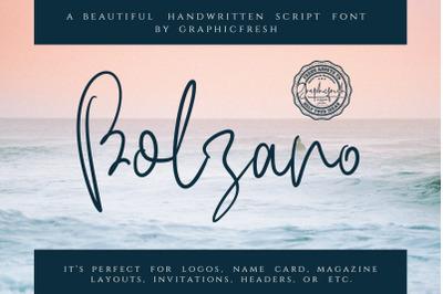 Bolzano - A Beautiful Script Font