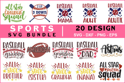 Sports Svg Bundle vol - 01