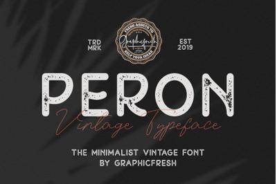 Peron - Modern Vintage | 4 Fonts