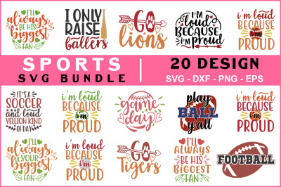 Sports Svg Bundle Vol - 03