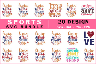 Sports Svg Bundle Vol-07