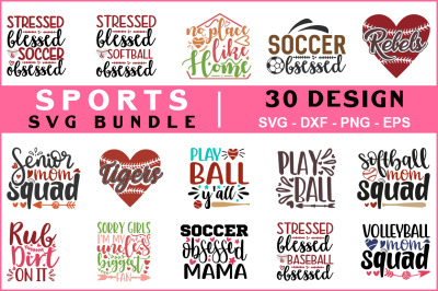 Sports Svg Bundle Vol - 08