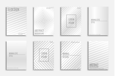 Abstract halftone striped brochures