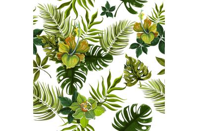 Christmas PNG Tropical FlowersDigital Paper