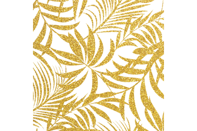 PNG Gold Tropical Digital Paper