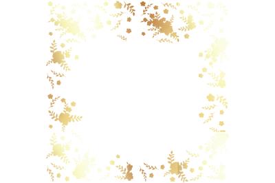 Christmas PNG Gold FlowersDigital Paper