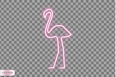 Neon Flamingo Vector Illustration