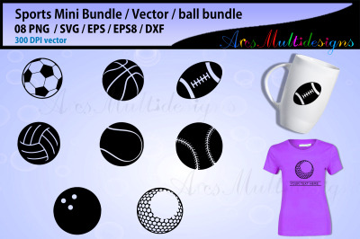 sports ball svg bundle / baseball svg / softball svg / basketball svg