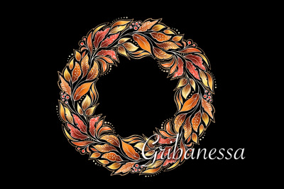 Decorative autumn wreath