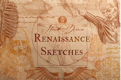 RENAISSANCE SKETCHES. VECTOR SET