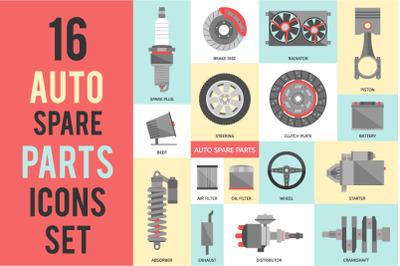16 Auto Spare Parts Set