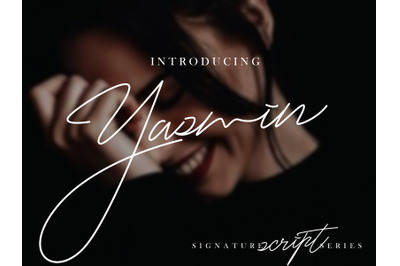 Yasmin script font