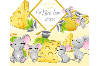 Cute mouse clipart
