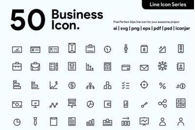 50 Business Line Icon