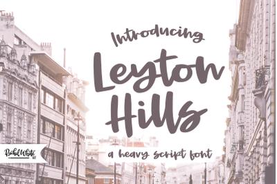 Leyton Hills, a heavy script font
