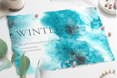 Watercolor Winter Frost Texture
