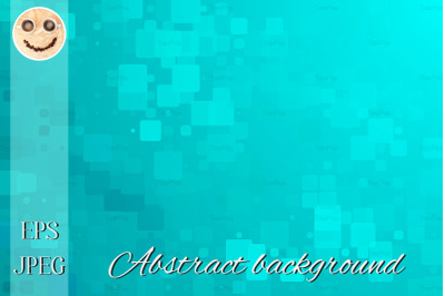 Turquoise green glowing various tiles background