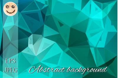 Turquoise green random sizes low poly background