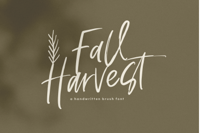 Fall Harvest - Handwritten Script Font with extras