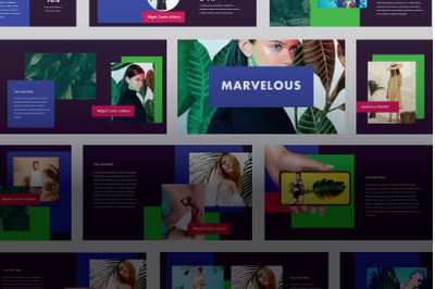 Marvelous - Creative & Colorful Google Slide Template
